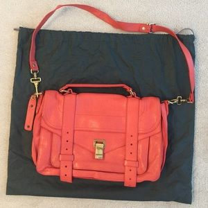 Proenza Schouler PS1 Medium in Coral